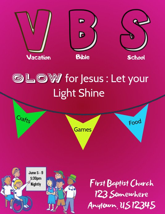 Vbs Flyer Template Vbs Flyer Template