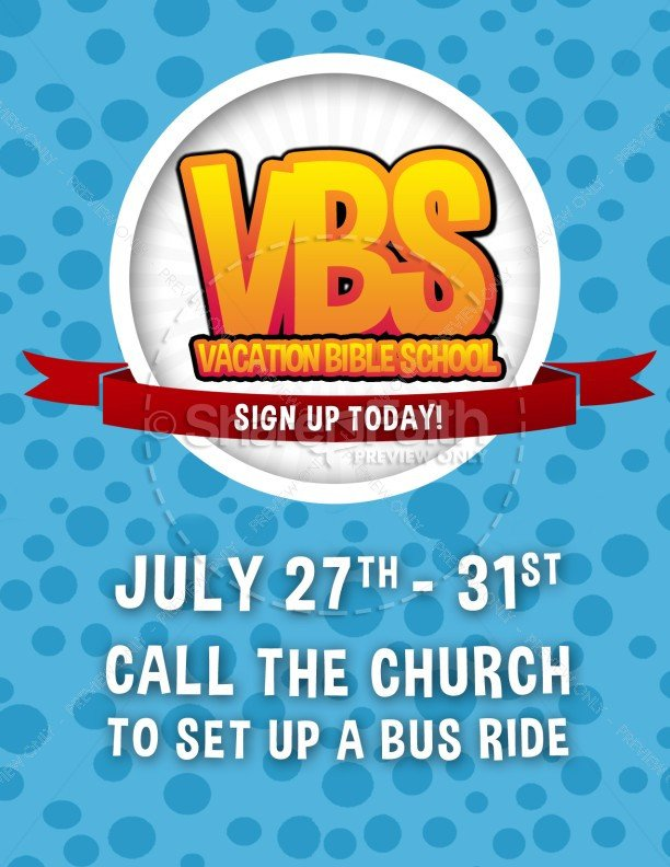 Vbs Flyer Template Vbs Media Christian Flyer Template