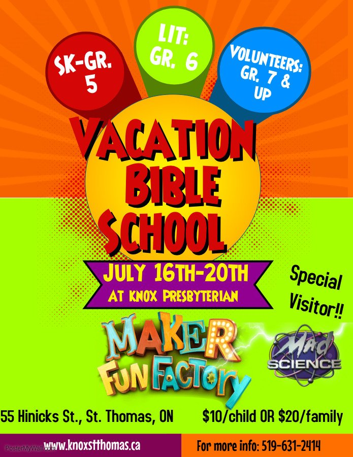 Vbs Flyer Template Vbs