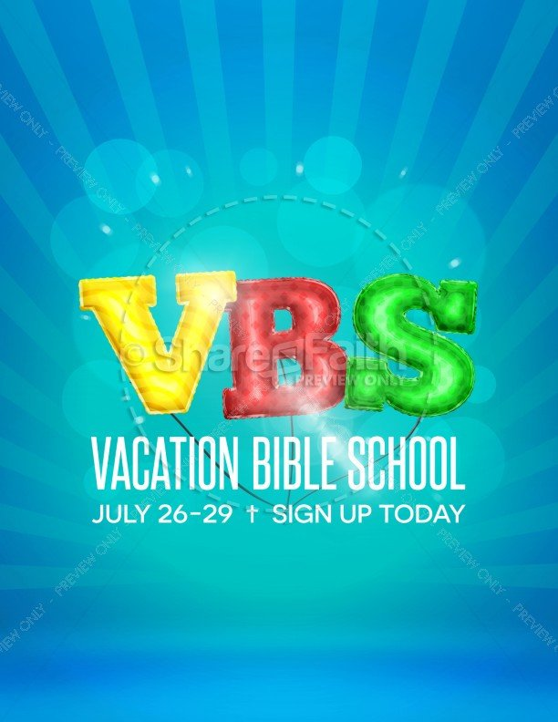 Vbs Flyer Template Vbs Registration Flyer Template