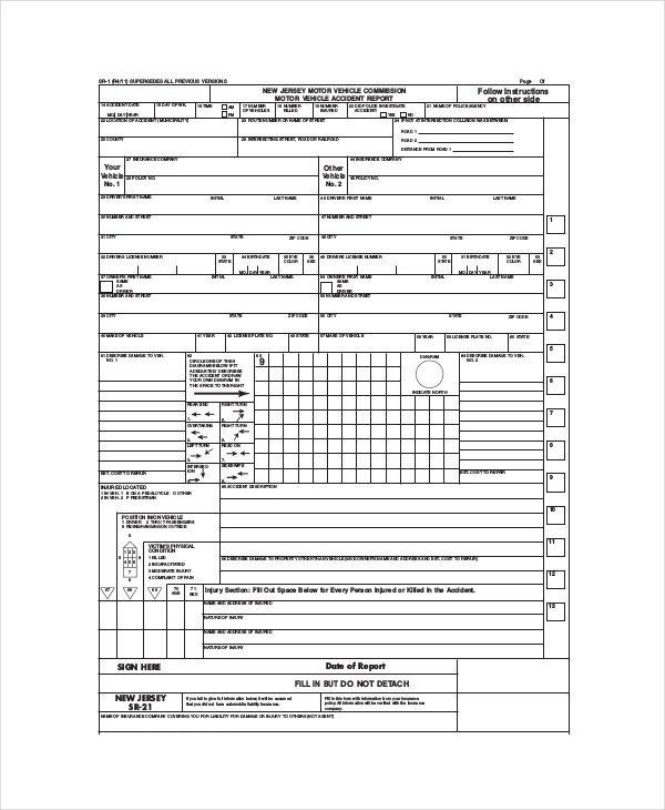 Vehicle Accident Report form Template 14 Free Vehicle Report Templates Pdf Docs Word