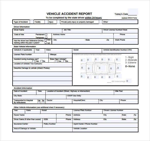 Vehicle Accident Report form Template 15 Sample Accident Report Templates Pdf Word Pages