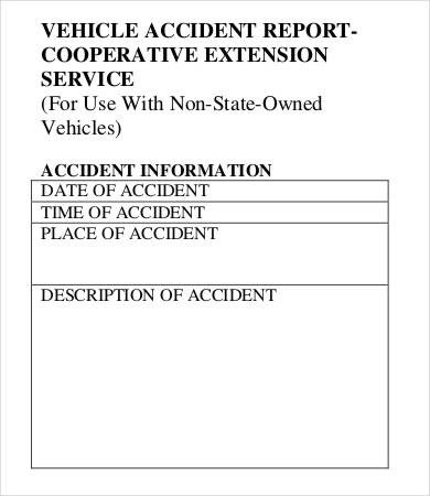 Vehicle Accident Report form Template 25 Accident Report forms Free Pdf Apple Pages Google