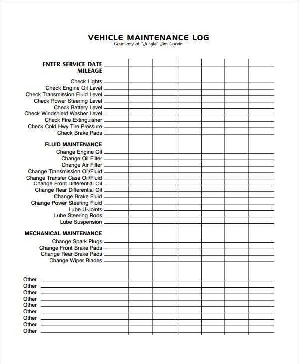 Vehicle Maintenance Log Excel Image Result for Excel Vehicle Maintenance Log