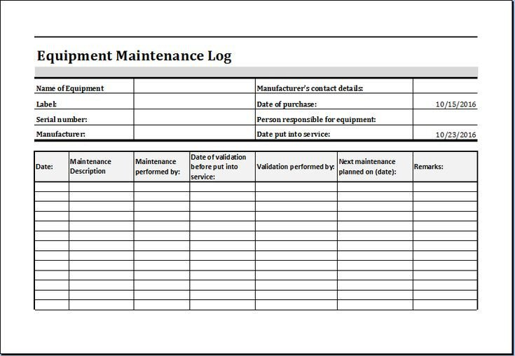 Vehicle Maintenance Log Excel Pin by Microsoft Fice Templates On Microsoft Templates