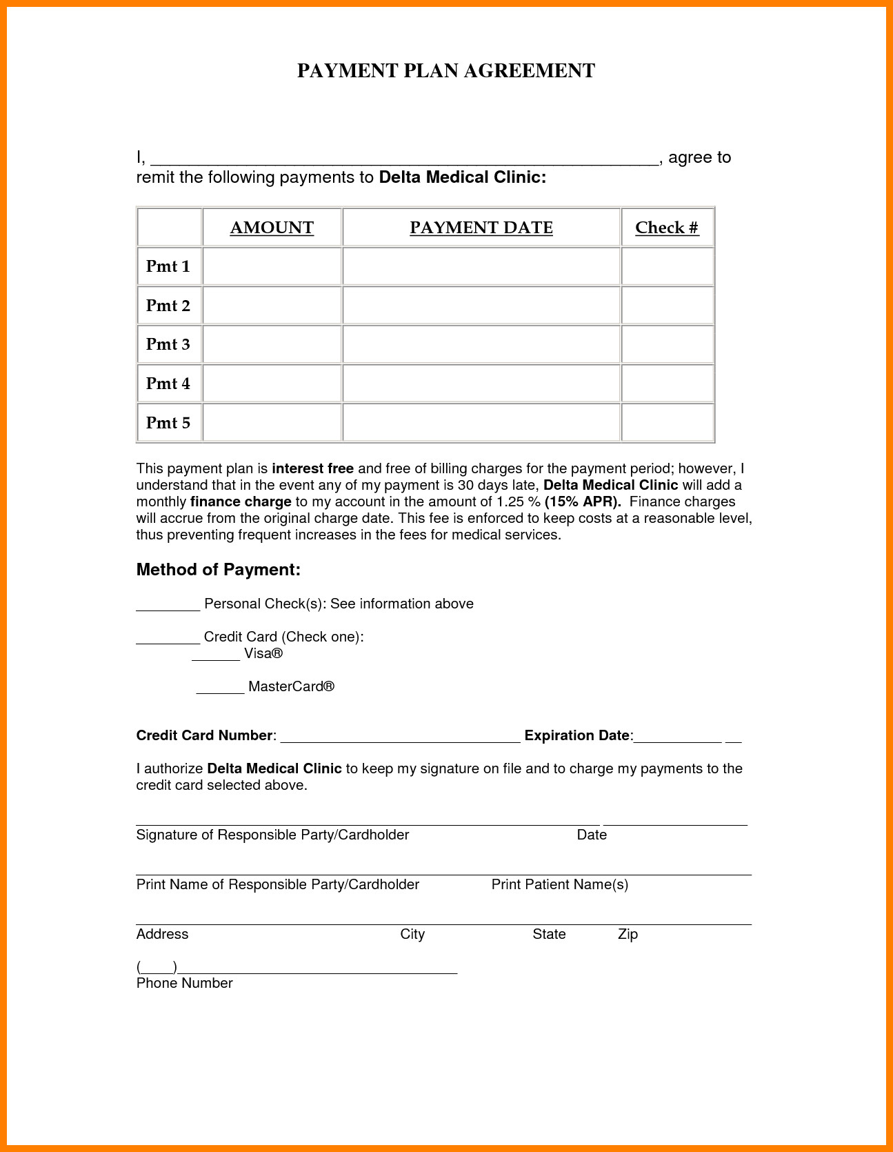Vehicle Payment Contract Template 5 Simple Payment Plan Agreement Template