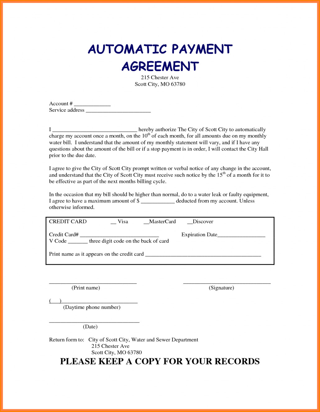 Vehicle Payment Contract Template 5 Taking Over Car Payments Contract