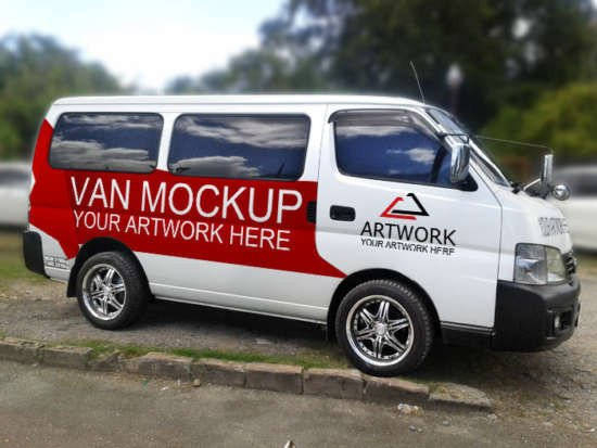 Vehicle Wrap Templates Free Downloads 15 Unique Van & Car Mockups Xdesigns