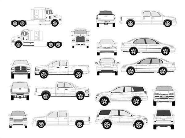 Vehicle Wrap Templates Free Downloads Pro Vehicle Outlines Free Vector In Adobe Illustrator Ai