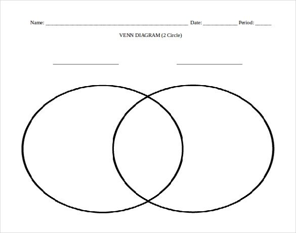 Venn Diagram In Word 7 Microsoft Word Venn Diagram Templates