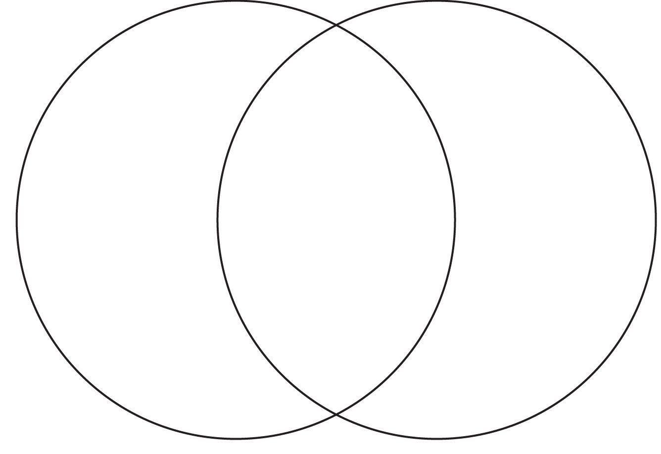 Venn Diagram In Word Printable Page Size Venn Diagram Templatae