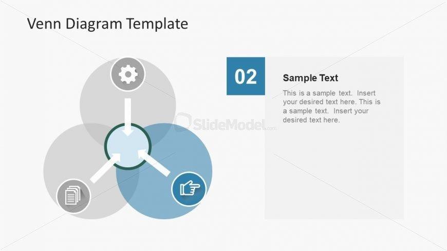 Venn Diagram Powerpoint Template Arrow Shape Intersection Venn Diagram Slide Slidemodel