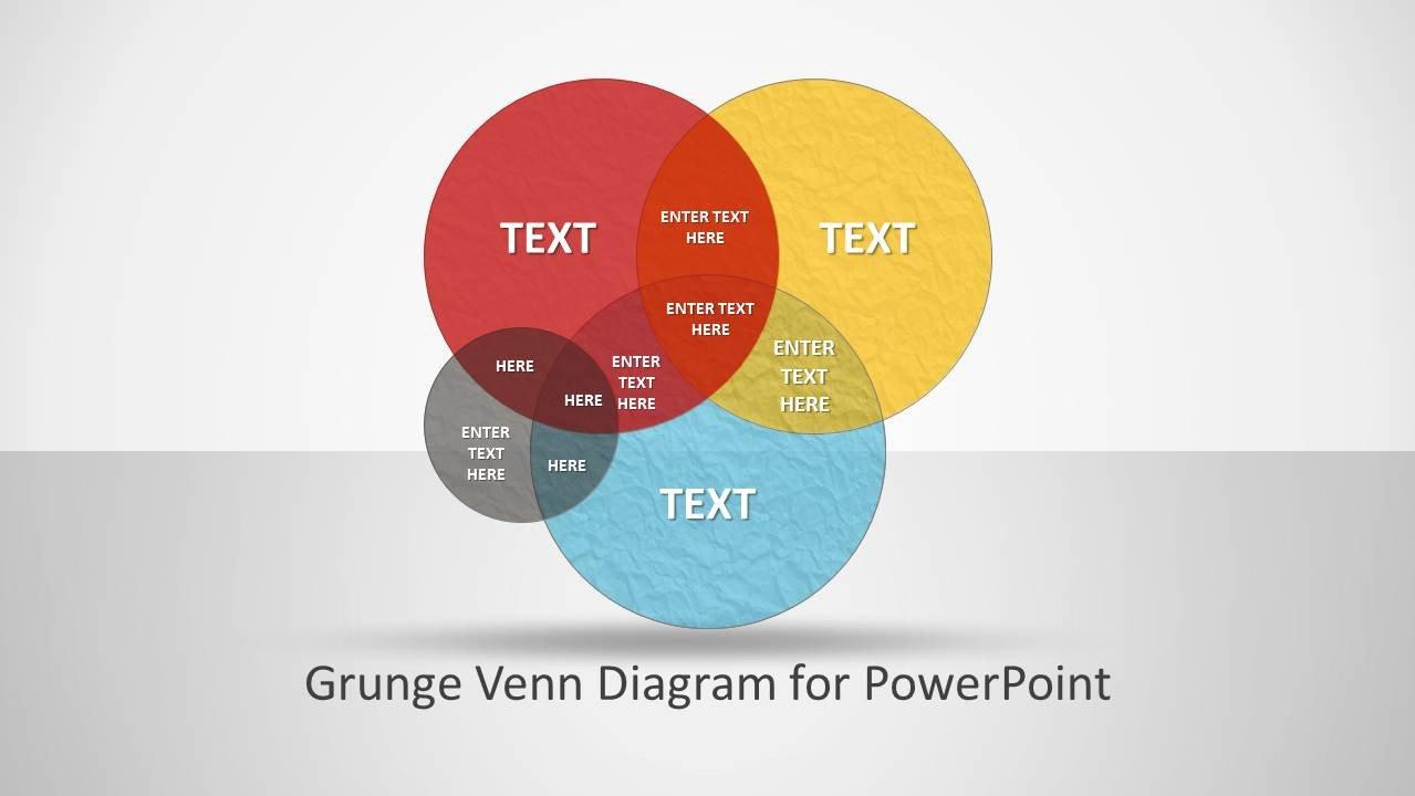 Venn Diagram Powerpoint Template Grunge Venn Diagram for Powerpoint Slidemodel