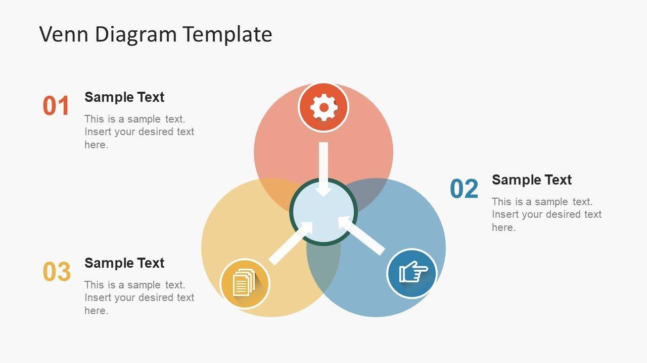 Venn Diagram Powerpoint Template Simple Flat Venn Diagram Powerpoint Template Slidemodel