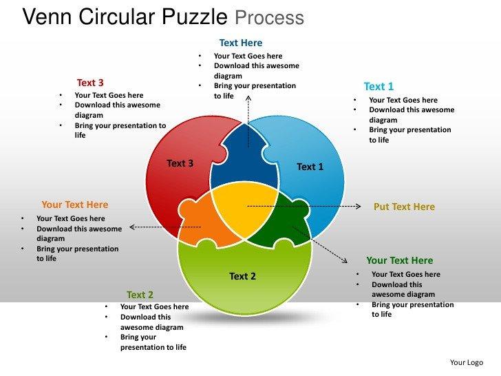 Venn Diagram Powerpoint Template Venn Circular Puzzle Process Powerpoint Templates