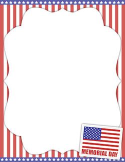 Veterans Day Borders Memorial Day Border Stationary