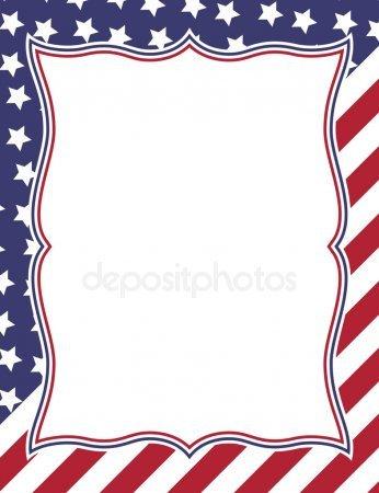 Veterans Day Borders Patriotic Border Stock Vectors Royalty Free Patriotic