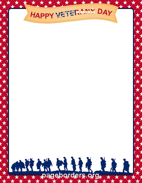 Veterans Day Borders Veterans Day Border Clip Art Page Border and Vector