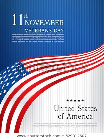 Veterans Day Program Template Red Blue White Radial Swirl Sparkling Stock Vector
