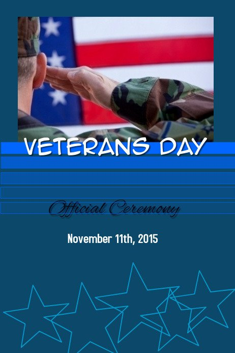 Veterans Day Program Template Veterans Day Ceremony Template