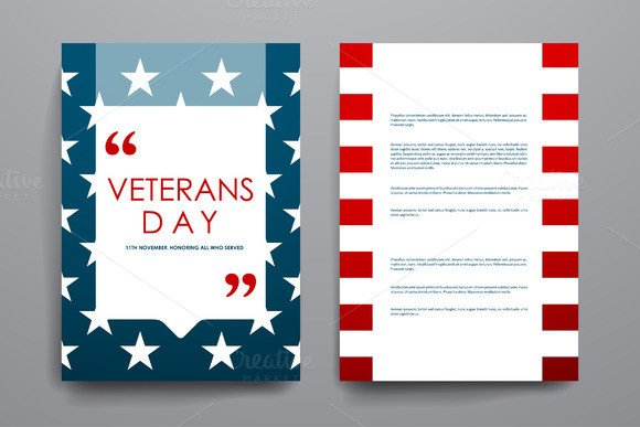 Veterans Day Program Template Veterans Day Flyer Templates Free Designtube Creative