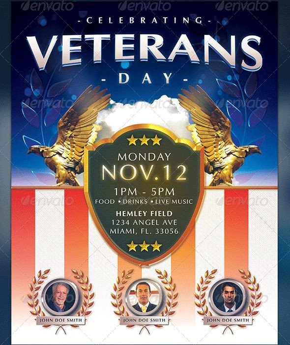 Veterans Day Program Template Veterans Day Flyer Templates