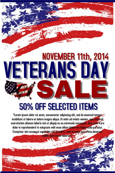 Veterans Day Program Template Veterans Day Retail Template