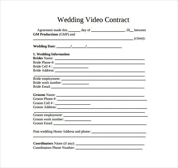 Videography Contract Template Free Videography Contract Template 11 Download Free