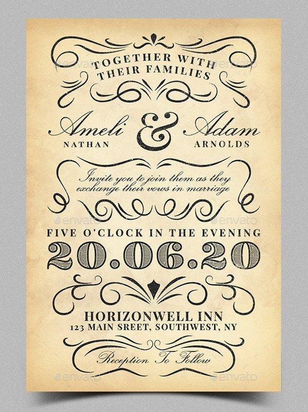 Vintage Wedding Invitation Templates 21 Vintage Invitation Templates Free Psd Ai Vector