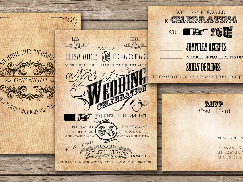 Vintage Wedding Invitation Templates 30 Unique Vintage Wedding Invitations