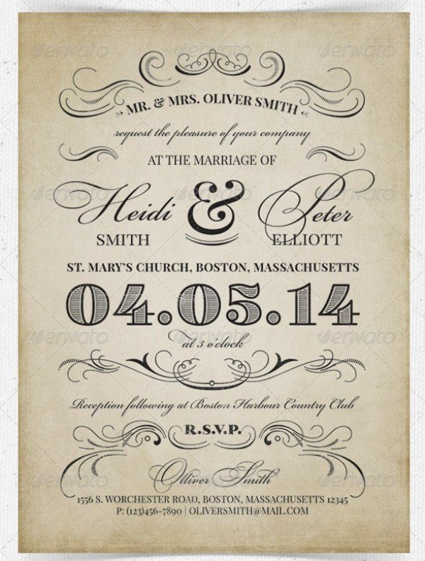 Vintage Wedding Invitation Templates 37 Awesome Psd & Indesign Wedding Invitation Template
