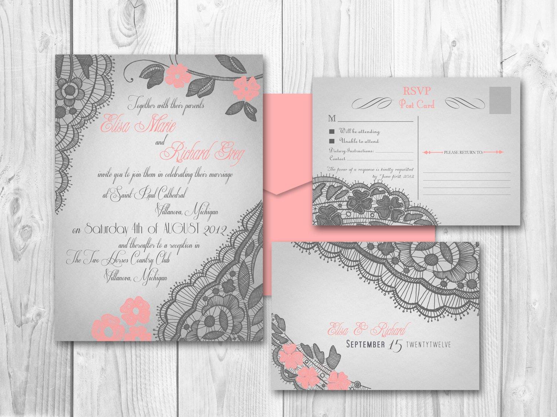 Vintage Wedding Invitation Templates Printable Vintage Wedding Invitations by Designedwithamore