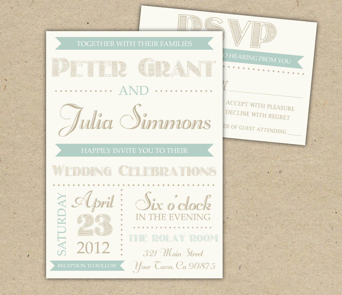 Vintage Wedding Invitation Templates Vintage Wedding Invitation Diy Printable Template Printed