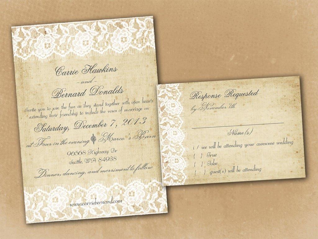 Vintage Wedding Invitation Templates Vintage Wedding Invitation Template