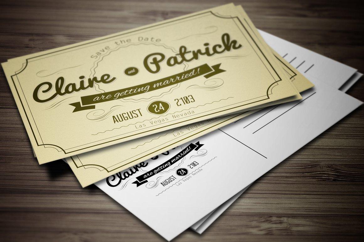 Vintage Wedding Invitation Templates Vintage Wedding Invitation Vol 2 Invitation Templates
