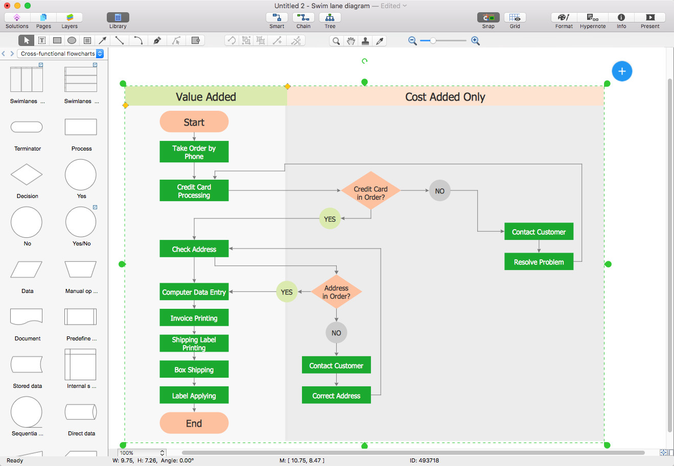 Visio Flow Chart Templates Create A Cross Functional Flowchart In Visio