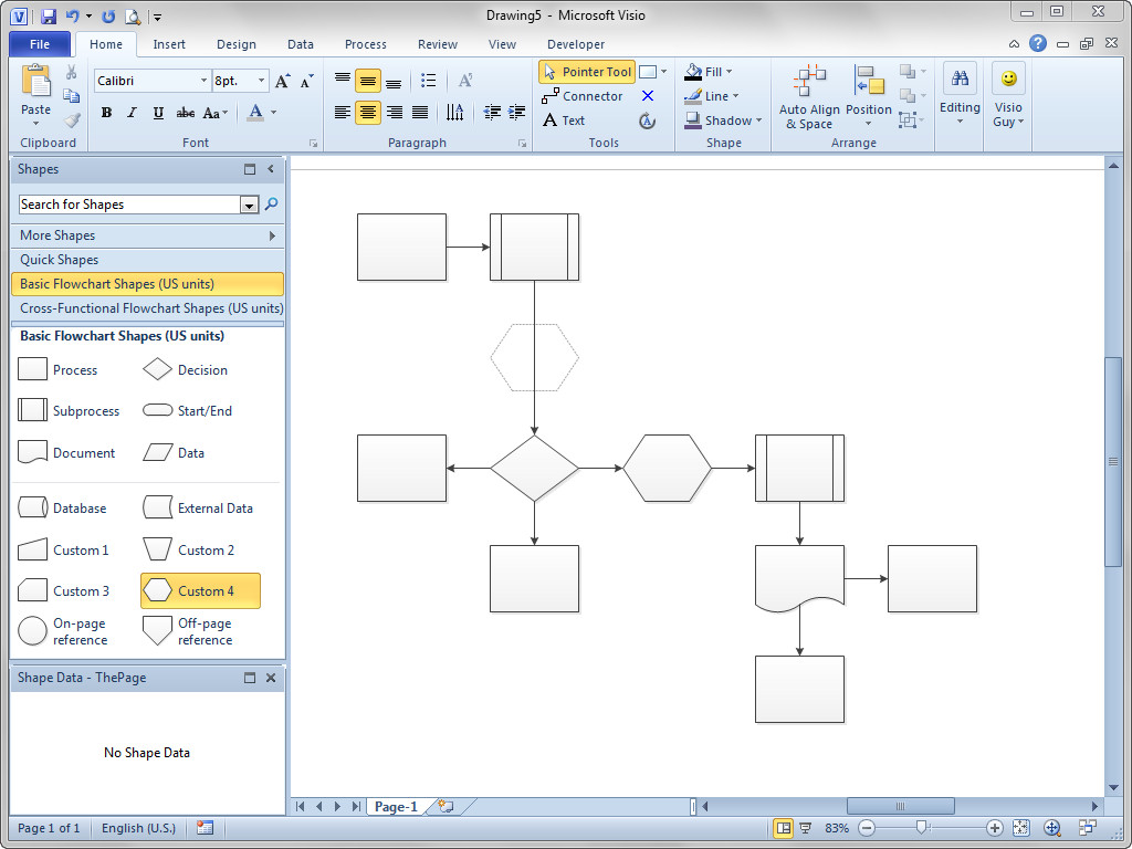 Visio Flow Chart Templates Shift Flowchart Shapes Automatically – Visio Guy