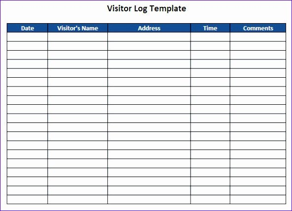 Visitor Log Template Excel 10 Visitor Log Template Excel Exceltemplates