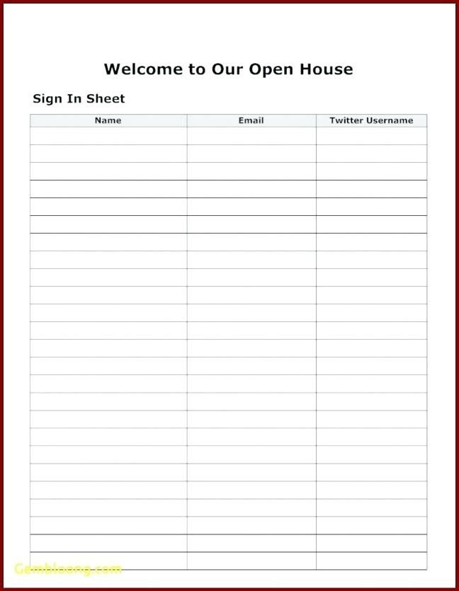 Visitor Log Template Excel 15 Visitors Sign In Sheet