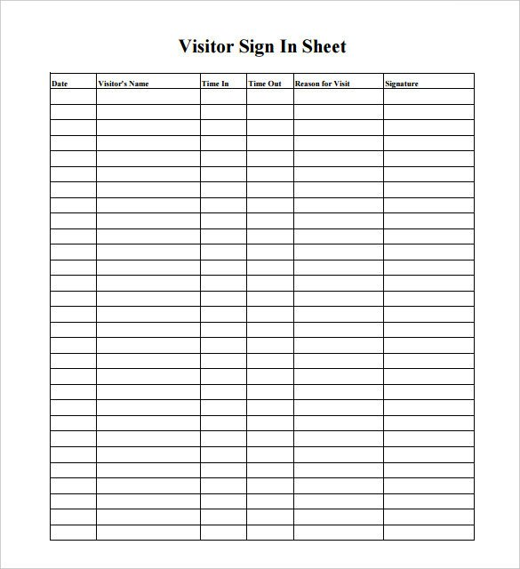 Visitor Log Template Excel 16 Log Templates Free Word Excel Pdf