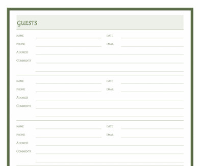 Visitor Log Template Excel Visitor Log Template Microsoft Fice Templates