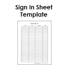 Visitor Sign In Sheet Template Blank Sign In Sheet … Sheets Templates