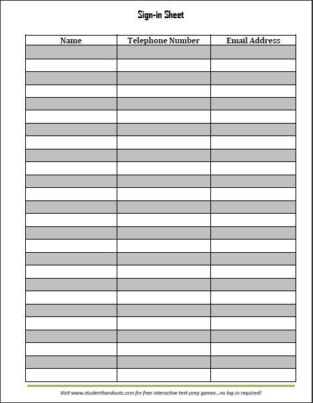 Visitor Sign In Sheet Template Guest and Visitor Sign In Sheet
