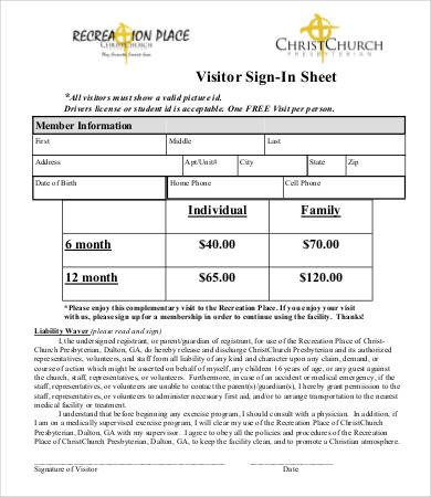 Visitor Sign In Sheets Visitor Sign In Sheet Template 13 Free Word Pdf