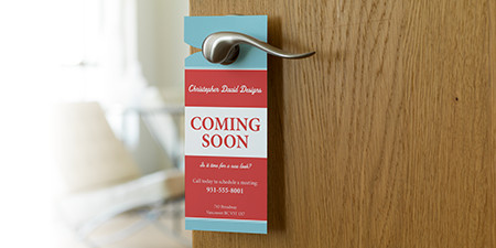 Vistaprint Door Hanger Template Custom Door Hangers