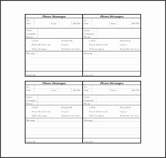Voicemail Log Template 10 Sample Phone Log Sampletemplatess Sampletemplatess