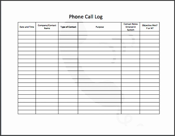 Voicemail Log Template 9 Professional Telephone Message Template