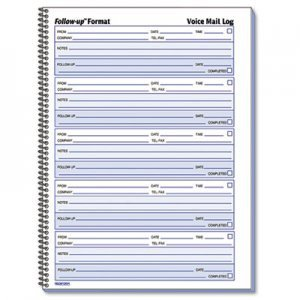 Voicemail Log Template Rediform Voice Mail Wirebound Log Books 8 X 10 5 8 500