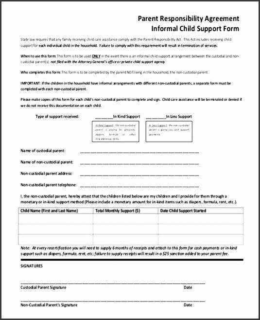Voluntary Child Support Agreement Template 5 Voluntary Child Support Agreement Template