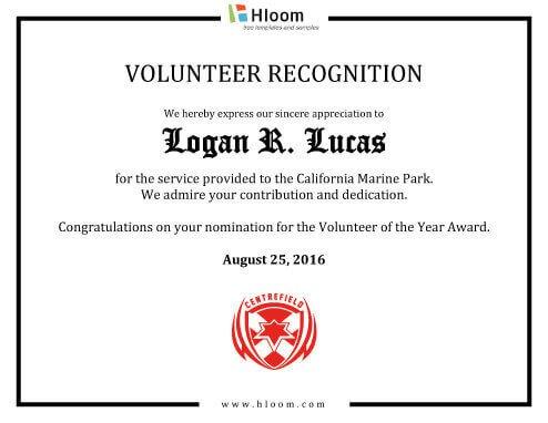 Volunteer Certificate Of Appreciation 8 Free Printable Certificates Of Appreciation Templates
